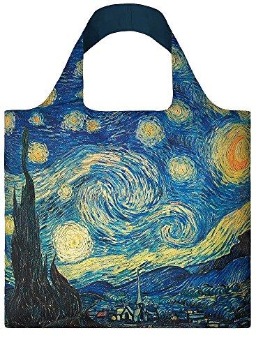 LOQI Museum Vincent Van Gogh Einkaufstasche / Reisetasche Reise-Henkeltasche, 50 cm, Starry Night