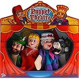 Completa Caperucita Roja y el lobo Teatro espectáculo de marionetas del conjunto de juguete