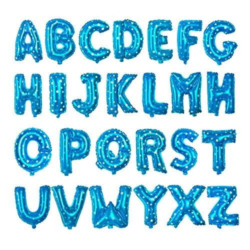 Leisial Letra 26 Globo de Fiesta de la Boda Globo del Cumpleaños Globos del Partido Globos de Espesor para Hogar Fiesta Boda Navidad Decoración,Azul