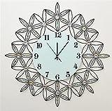 NWYJR Wanduhr Ultra Leise Europäische Einfache Große Zifferblatt Diamant Schöne Moderne Wohnzimmer Schlafzimmer Kreative Eisen Hängende Uhr White