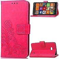 Microsoft Lumia N930 Hülle,Microsoft Lumia N930 Strap Lederhülle,JAWSEU Retro Elegante Prägung Klee Blumen Muster... preisvergleich bei billige-tabletten.eu
