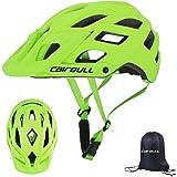 Cairbull Caschi Ciclo Casco Ciclismo Regolabile con Visiera Parasole 55-61 cm Uomo Donne Mountain Sicurezza Protezione Caschi