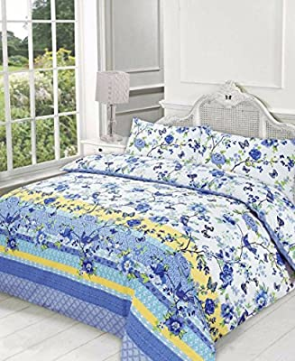 Duvet Cover and Pillowcase Set Quilt Bedding Set With Pillow Cases Single Double King Super King Size Blocks Printed Reversible - cheap UK light store.