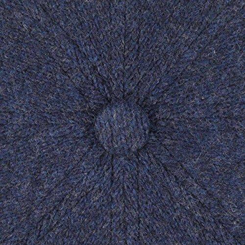 Casquette Hatteras Wool Stripe Stetson bonnet type gavroche casquette pour l´hiver Bleu