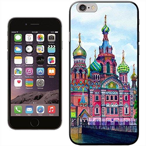 Photo de Le Kremlin de Moscou, Russie Coque arrière rigide détachable pour Apple iPhone modèles, plastique, noir, iPhone 5/5s