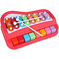 Anup Torda 2 in 1 Piano Xylophone Educational Musical Instruments, 8 Key Scales for Clear Tones with Music Cards…