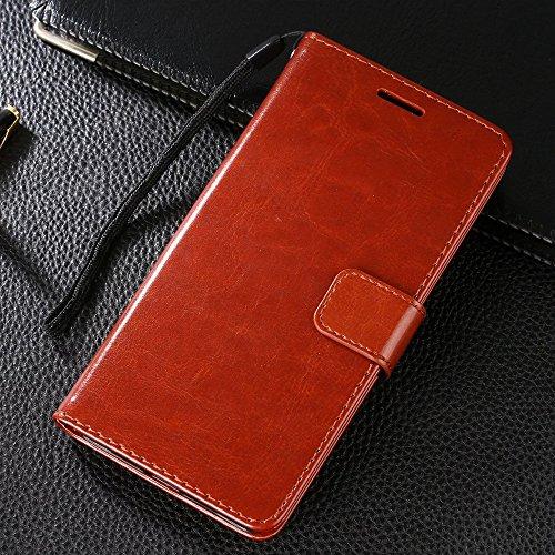 Preisvergleich Produktbild LeTV LeEco Le Pro3 CHENXI Wallet Case Hülle für,Folio PU Leder Schutzhülle mit Kartenfach Book-Style mit Magnet Stand funktion Etui Handyhülle Schale für LeTV LeEco Le Pro3 Braun