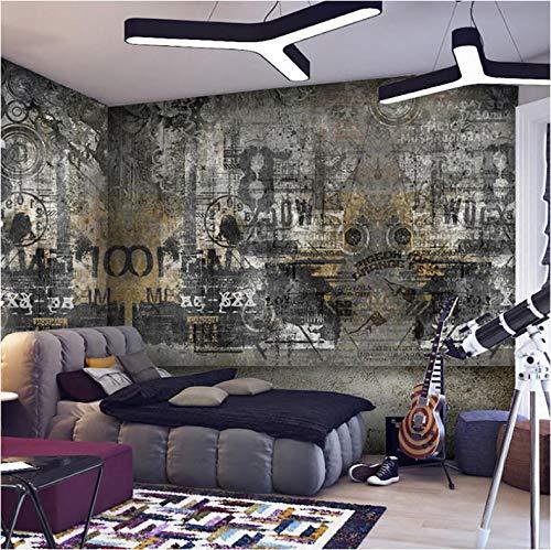 Moderne unbedeutende Straßen-Graffiti-Kunst-Persönlichkeits-Schlafzimmer-Wohnzimmer-Sofa-Hintergrund-Gewohnheit irgendeine Tapete der Größe 3D -