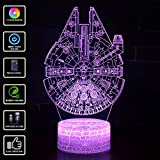 3D Illusion Lampe NHSUNRAY 7 Farben LED Touch Tischleuchte mit