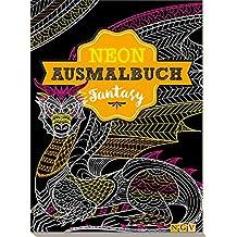 Fantasy Neon-Ausmalbuch