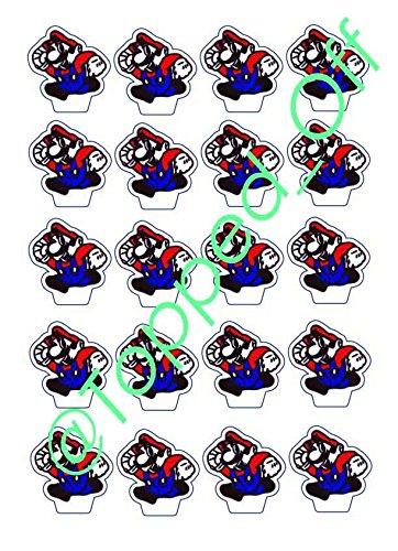 20 - Super Mario Essbare Kuchen-Deckel Dekoration