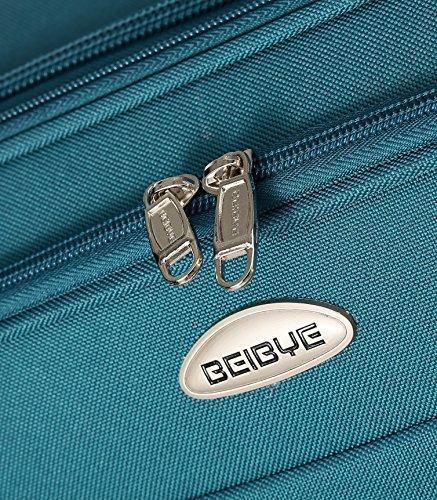 3tlg. Reisekofferset 8009 Stoffkoffer Gepäckset Koffer Trolley Reisekoffer in 6 Farben