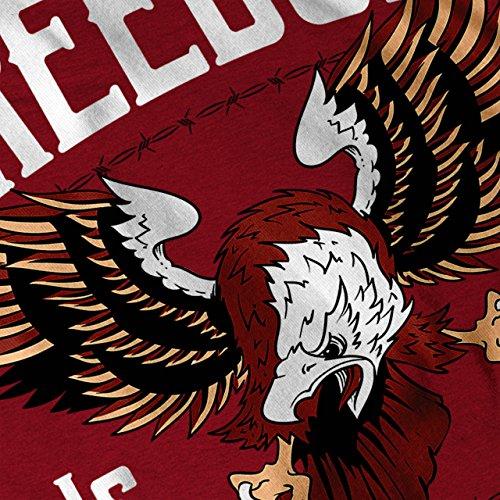 Freiheit Nur Tor Tier Damen S-2XL T-shirt | Wellcoda Red