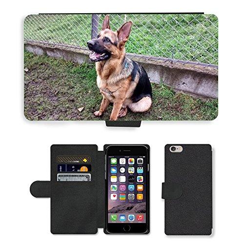 Just Mobile pour Hot Style Téléphone portable étui portefeuille en cuir PU avec fente pour carte//m00140136pour chien Labrador Chien Assis//Apple iPhone 6Plus 14cm