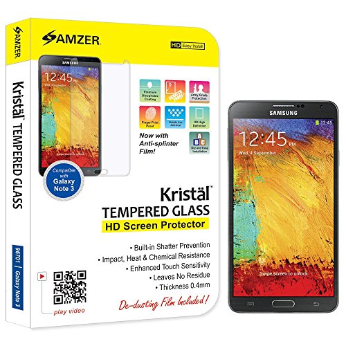 Amzer-96701-Amzer-KristalTM-Tempered-Glass-Screen-Protector-for-Samsung-GALAXY-Note-3-SM-N9000-Samsung-GALAXY-Note-3-SM-N9005-Samsung-GALAXY-Note-3-SM-N900