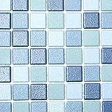 Mosaik Fliese Keramik blau blau für BODEN WAND BAD WC DUSCHE KÜCHE FLIESENSPIEGEL THEKENVERKLEIDUNG BADEWANNENVERKLEIDUNG Mosaikmatte Mosaikplatte