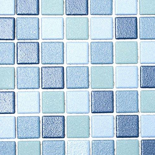 k blau blau für BODEN WAND BAD WC DUSCHE KÜCHE FLIESENSPIEGEL THEKENVERKLEIDUNG BADEWANNENVERKLEIDUNG Mosaikmatte Mosaikplatte ()