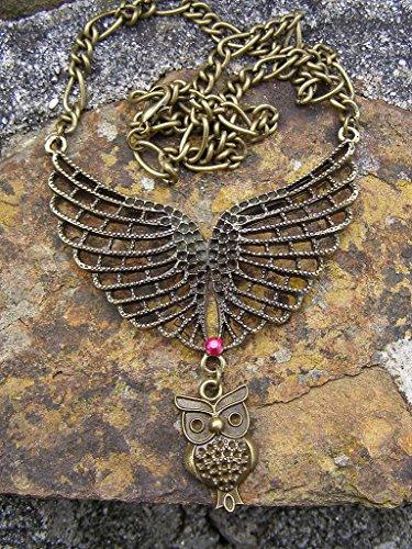 anischer Stil Steampunk Anhänger Halskette handgefertigt (Steampunk Eule Kostüm)