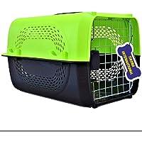 Tikora International Pet Travel Carrier Dog Cat Rabbit Steel Door   Folding Collapsible Transport Box Crate Plaastic…