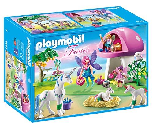 Playmobil 6055 Princess Fairies Playset with Toadstool House