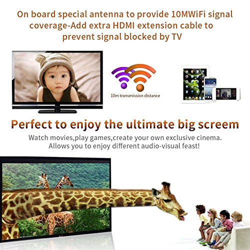 LONSUN Wireless WiFi Display Dongle TV Empfänger Adapter 1080P Full HD Unterstützung Google Chromecast für Miracast Airplay DLNA TV Stick für Android / Mac / IOS / Windows … - 8