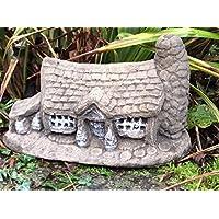 Stone Cottage ornamentale da giardino, motivo: