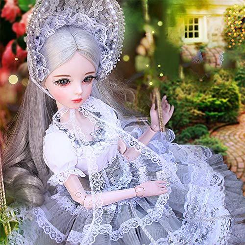 MEMIND schöne Puppe SD/Bjd Puppe 60 cm Dress up Hochzeitskleid Prinzessin gemeinsame ausländische Puppe Mädchen Spielzeug Geburtstagsgeschenk,Emily