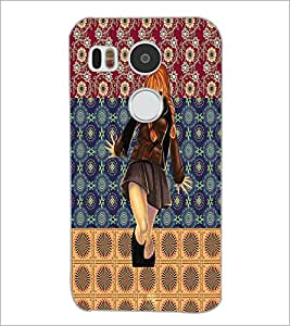 PrintDhaba Cute Girl D-2466 Back Case Cover for LG NEXUS 5X (Multi-Coloured)
