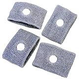 Ecloud Shop 4 X Anti-náuseas Muñequeras muñequeras de viaje para prevenir el malestar de la náusea