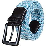 BOZEVON Cintura Intrecciata Unisex - Seta Di Gelso Cintura in Tessuto Elastico Per Uomo e Donna 105CM