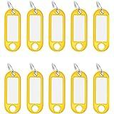 Wedo 262101805 sleutelhanger kunststof (met ring, verwisselbare etiketten) 10 stuks, geel