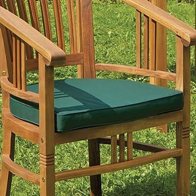 Sesselauflage, grün, 100 % Dralon, mit Reißverschluss, abziehbar - 1 Stück