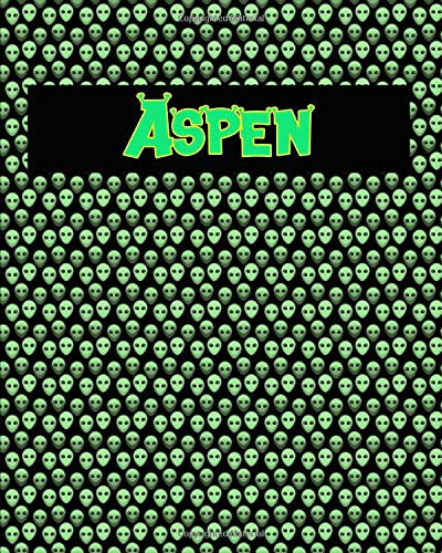 120 Page Handwriting Practice Book with Green Alien Cover Aspen: Primary Grades Handwriting Book - Aspen Green
