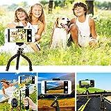 Handy Stativ, Smartphone Stativ, Mini Flexibel Reise Stativ, Handy Halter Halterung für Kamera, iPhone, Sumsung und andere Android-Smartphone mit Bluetooth Fernsteuerung Shutter - 4