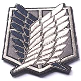 KingNew Embroidered Badge Patch Attack on Titan Cosplay Moral Tactical Applique (Wings)