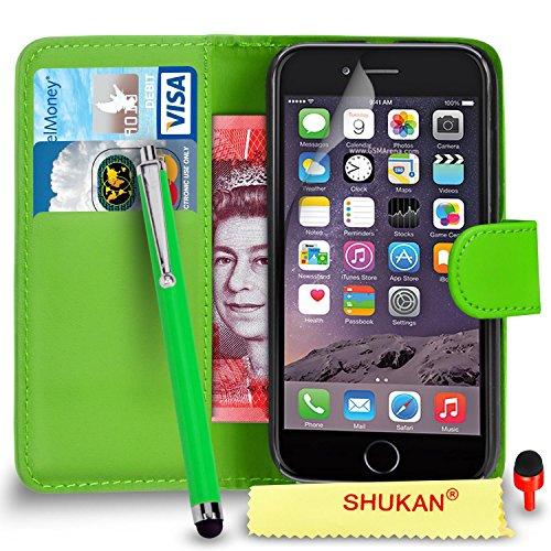 """Apple iPhone 6 / 6S (4.7"""" Inch) Pack 1, 2, 3, 5, 10 Protecteur d'écran & Chiffon SVL2 PAR SHUKAN®, (PACK 10) Portefeuille VERT"""