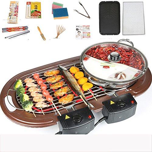 Huifang grills QFFL dainkaolu Barbecue-Ofen rauchfreien elektrischen Grill Antihaft-Grill-Maschine Elektro-Grill Haushalt Teppanyaki geröstete einen Topf BBQ Größe Optional (Farbe : C)