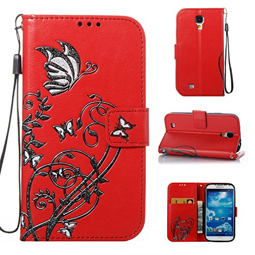 for-samsung-galaxy-s4-case-coffeetreehouse-retro-premium-colorful-butterfly-flower-with-card-holder-
