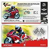 Einladungskarten zum Geburtstag (50 Stück) als Motorrad Rennen Ticket Moto Bike Rad
