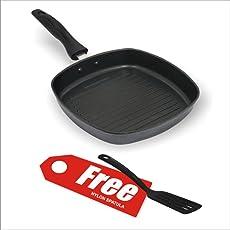 Nice Non Stick Aluminium Grill Pan,225MM,Greyish Black