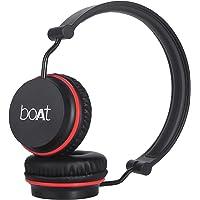 boAt Rockerz 400 Wireless Bluetooth On Ear Headphone with Mic (Black/Red)