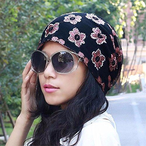 YISANLING-MZ Hat das Mädchen atmungsaktiv storehouse Kappe Hut Mütze Wasser bohren Spitze Kopfschrauben mit Glatze, Rosa schwangere Frauen. (Glatze-mütze)
