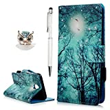 J5 2017 Case YOKIRIN Galaxy J5 Leather Wallet Book Card Case Cover Pouch with Card Slot and Stand Feature Case For Samsung Galaxy J5 2017 Forest