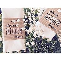 Hochzeit 50 Stk. Banderolen für Freudentränen Kraftpapier
