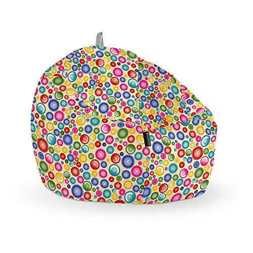 HAPPERS Puff Pelota Estampado Botones