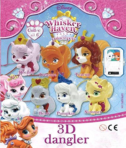 on 10 x Palace Haustiere 3D Dangler Figuren, Ideal für Mädchen Party Tasche Füllstoffe oder Pinata Preise (überraschend Eier)