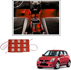 Vheelocityin 9 LED Custom Cuttable Car Red Light for Interior/Exterior For Maruti Suzuki Swift New