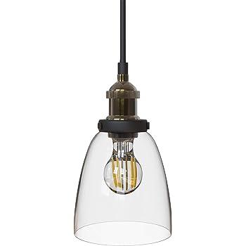 B.K. Licht suspension verre vintage, plafonnier vintage, éclairage  intérieur cuisine comptoir restaurant, 230V 0a8fd26f32d9