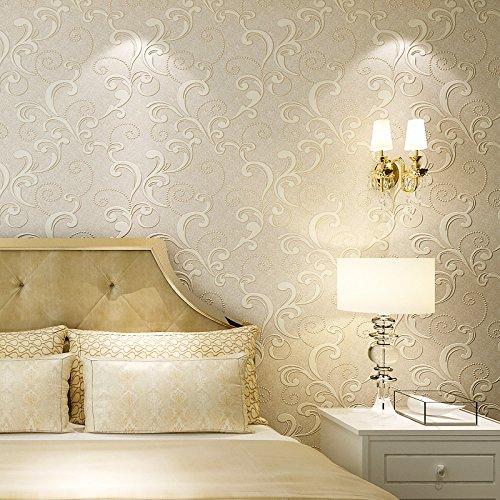 XXTT-Stereoscopici 3D Sfondi in tessuto non tessuto, dolce giardino farfalle e fiori, camera da letto soggiorno TV sfondo tappezzeria ,