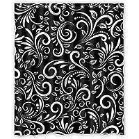 Modelli astratti di stile minimalista Design di irregolare lo sfondo è nero Disegno 100% poliestere tessuti impermeabile bagno Shower Curtain 60